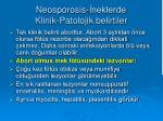 neosporosis neklerde klinik patolojik belirtiler