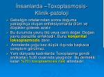 nsanlarda toxoplasmosis klinik patoloji1