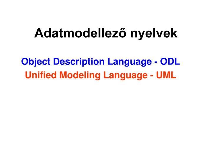 Adatmodellező nyelvek