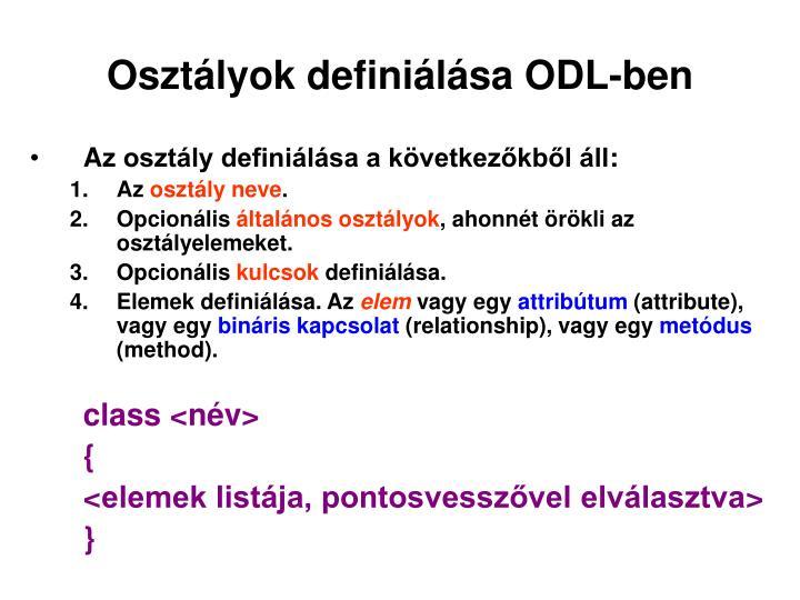 Osztályok definiálása