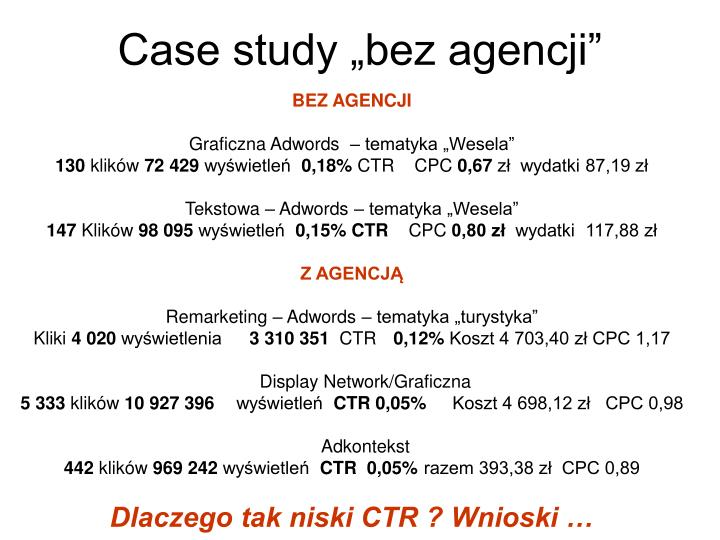 "Case study ""bez agencji"""
