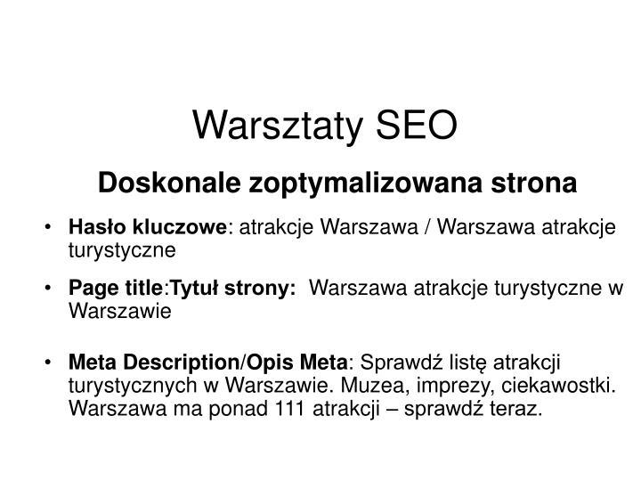 Warsztaty SEO