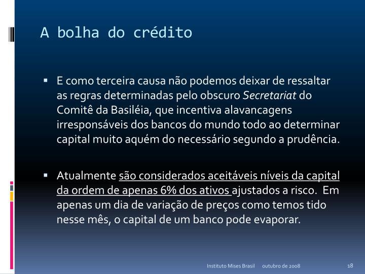 A bolha do crédito