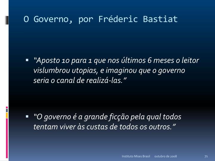 O Governo, por Fréderic Bastiat