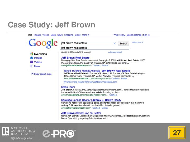 Case Study: Jeff Brown
