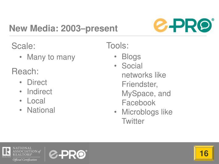New Media: 2003
