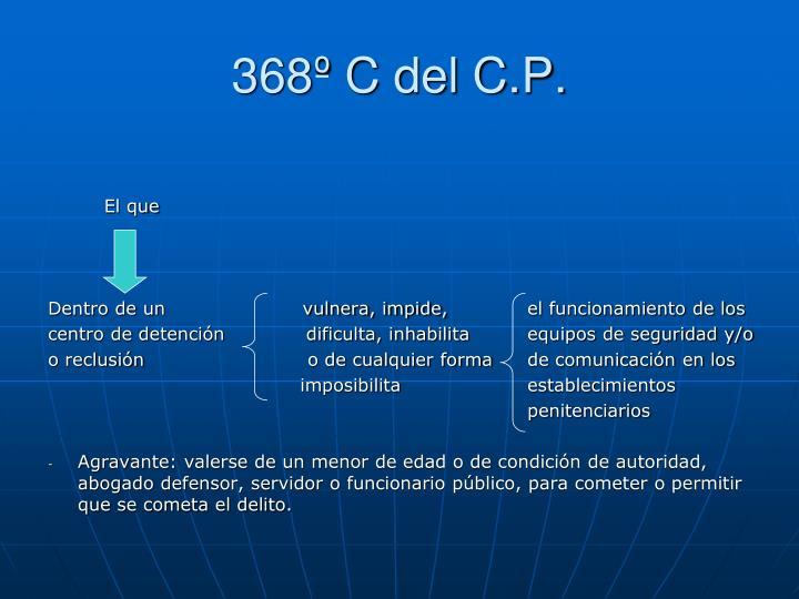 368º C del C.P.