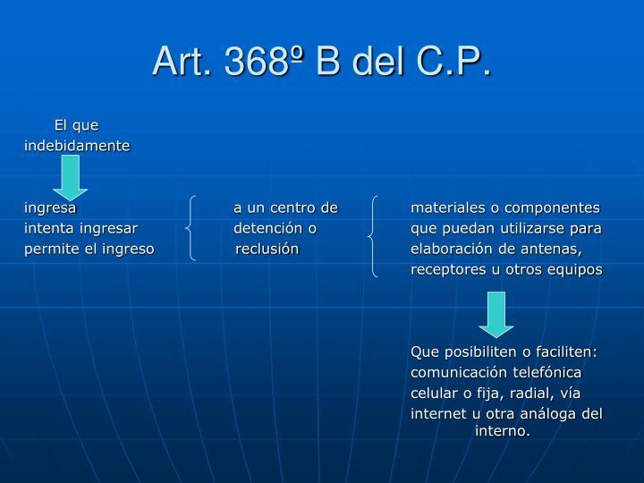 Art. 368º B del C.P.