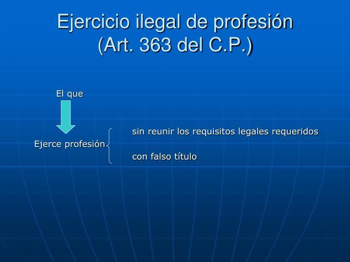 Ejercicio ilegal de profesión