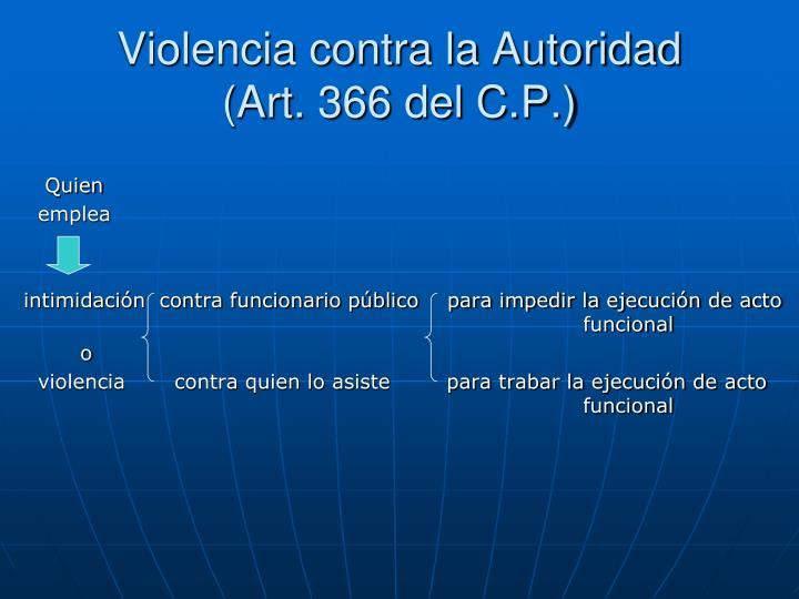 Violencia contra la Autoridad