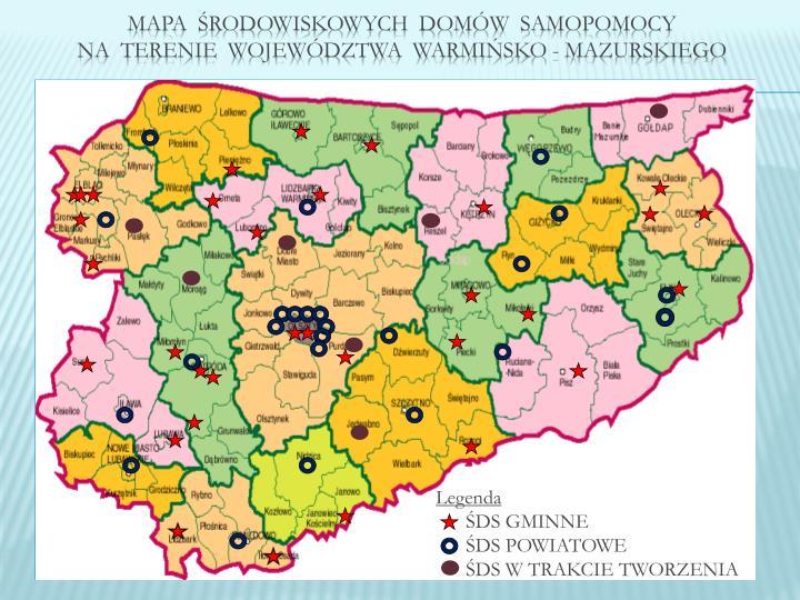 Mapa  środowiskowych  domów  samopomocy