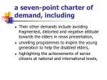 a seven point charter of demand including1