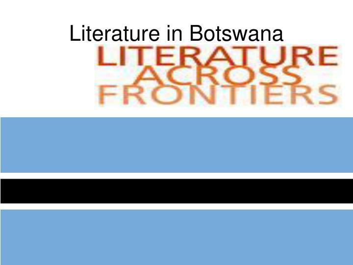 Literature in Botswana