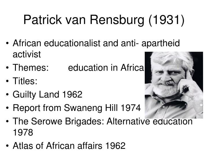 Patrick van Rensburg (1931)