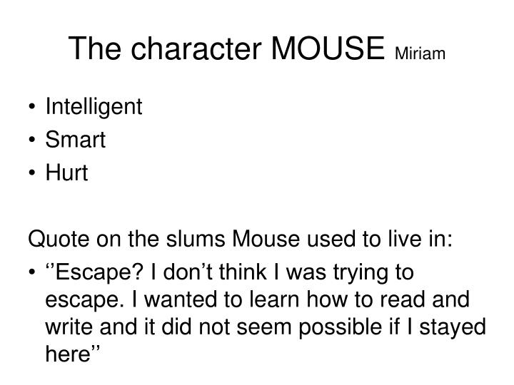 The character MOUSE