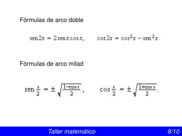 Fórmulas de arco doble
