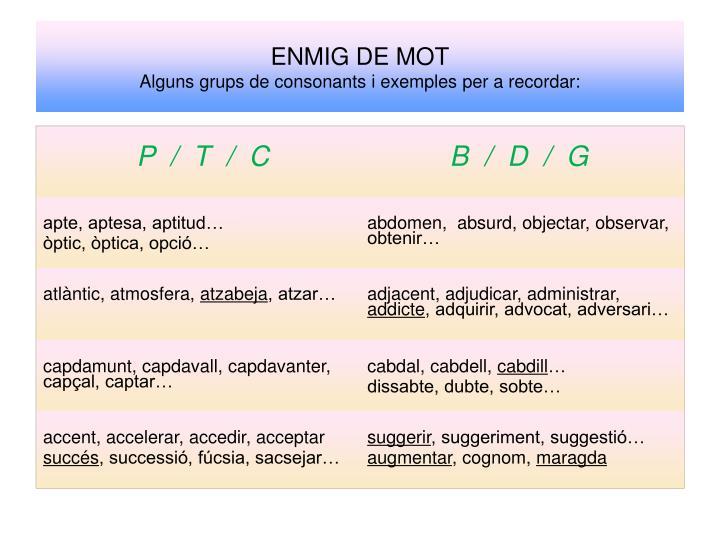 ENMIG DE MOT