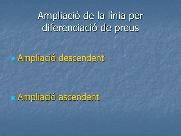 Ampliació de la línia per diferenciació de preus