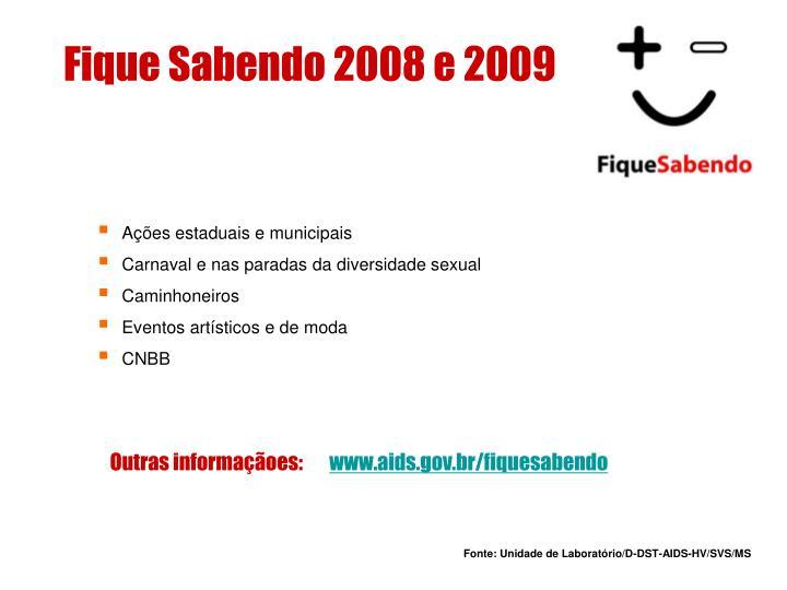 Fique Sabendo 2008 e 2009