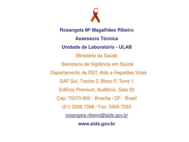 Rosangela Mª Magalhães Ribeiro