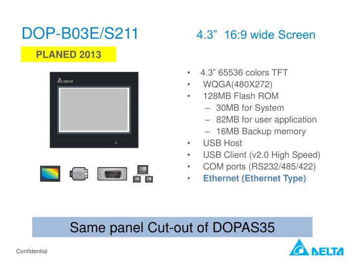 DOP-B03E/S211