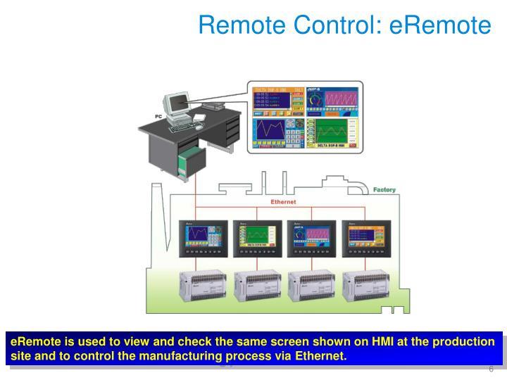 Remote Control: eRemote