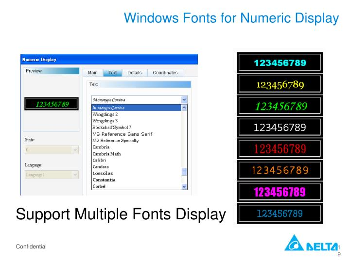 Windows Fonts for Numeric Display