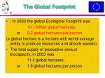 the global footprint