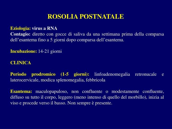 ROSOLIA POSTNATALE