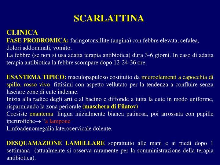 SCARLATTINA