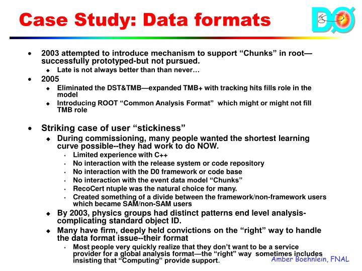 "2003 attempted to introduce mechanism to support ""Chunks"" in root—successfully prototyped-but not pursued."