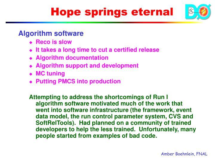 Algorithm software