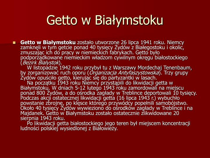 Getto w Białymstoku