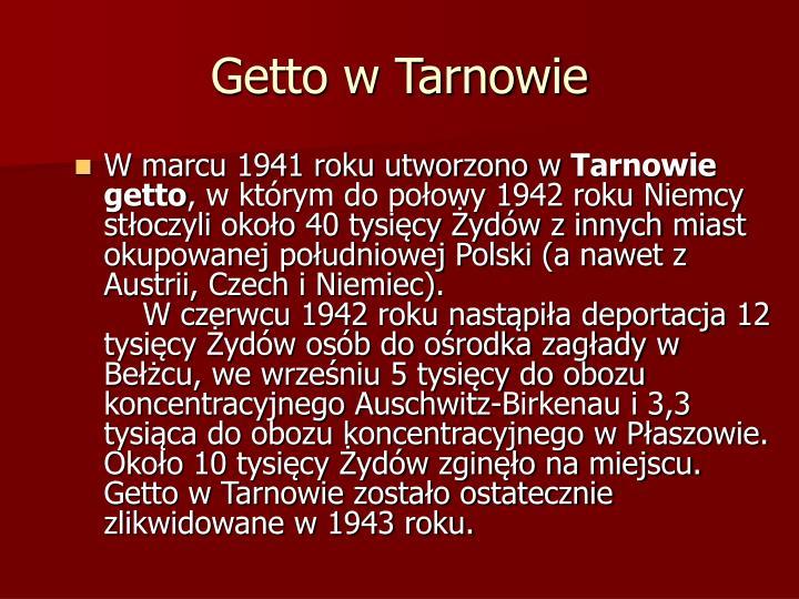 Getto w Tarnowie