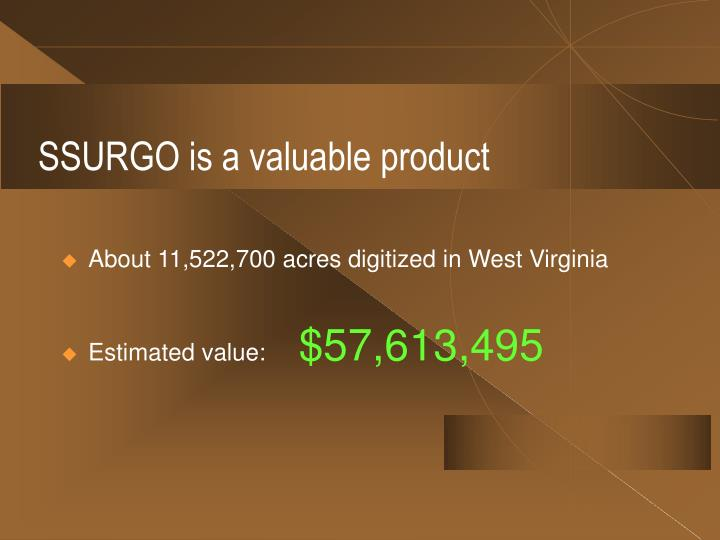 SSURGO is a valuable product