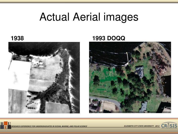 Actual Aerial images
