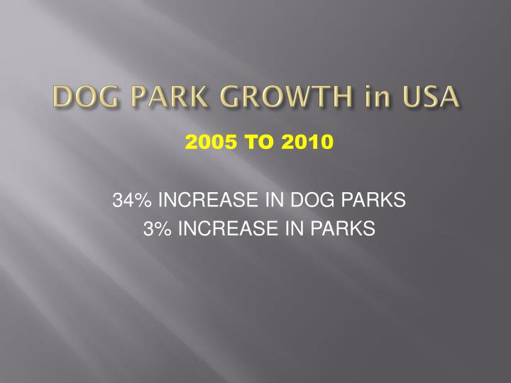 DOG PARK GROWTH in USA