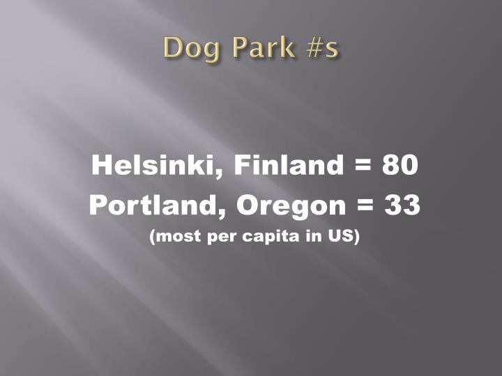 Dog Park #s