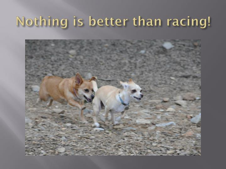 Nothing is better than racing!
