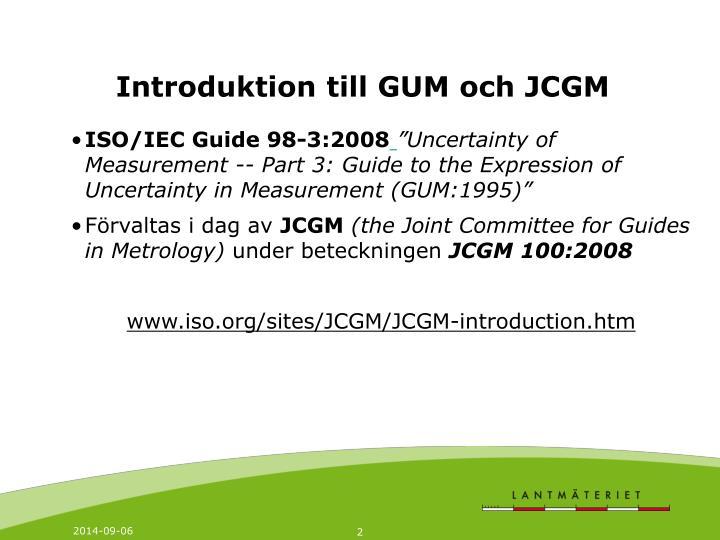 Introduktion till GUM och JCGM
