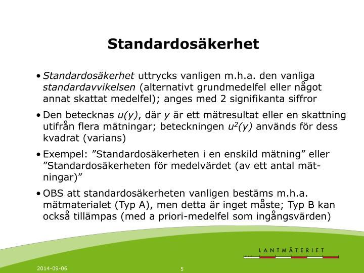 Standardosäkerhet