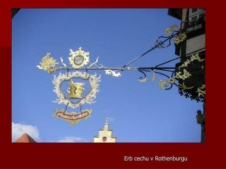 Erb cechu v Rothenburgu