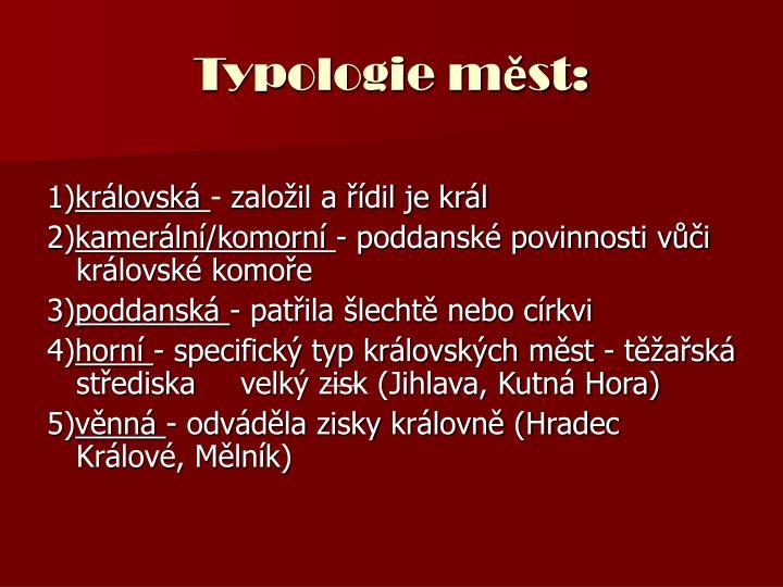 Typologie m