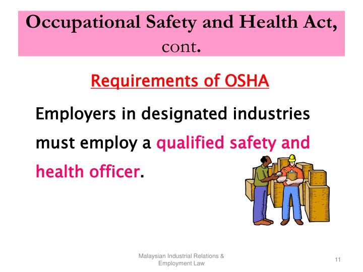 Occupational Safety and Health Act,