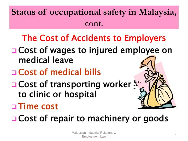 Status of occupational safety in Malaysia,