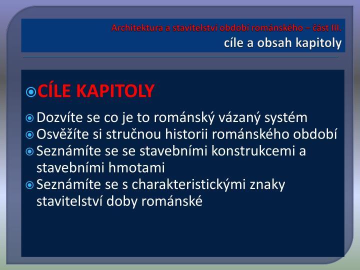 Architektura a stavitelství období románského – část III.