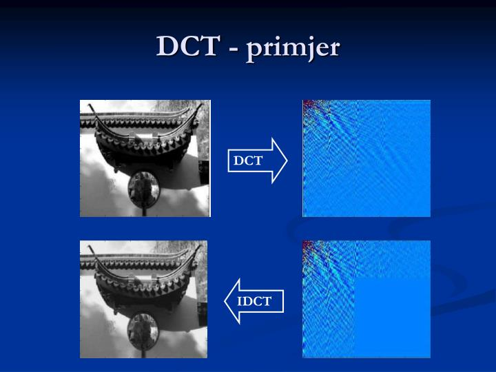 DCT - primjer