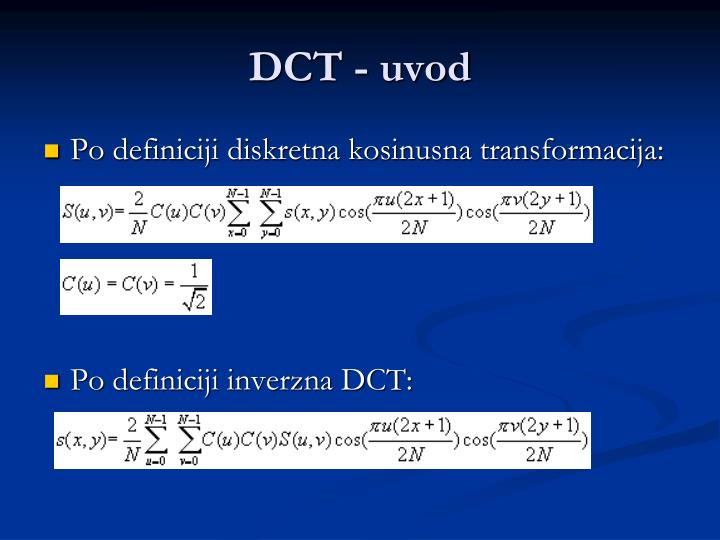 Dct uvod
