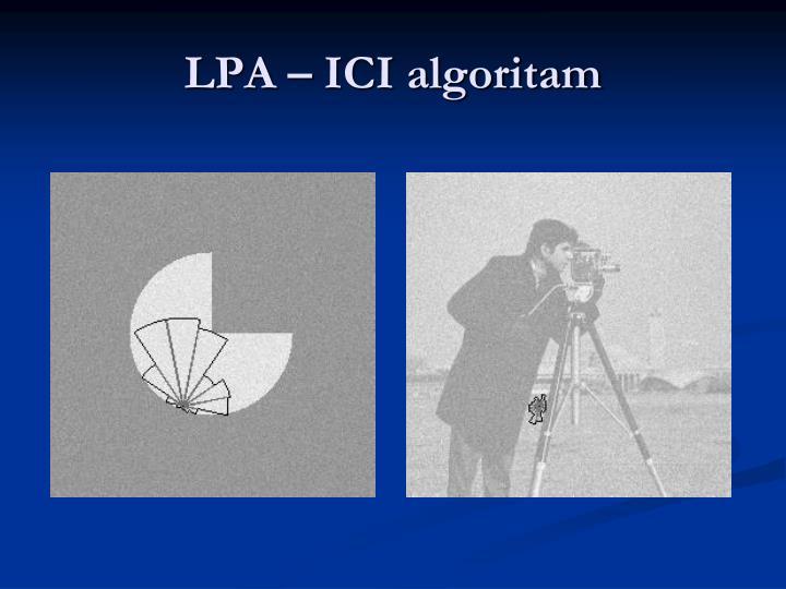 LPA – ICI algoritam