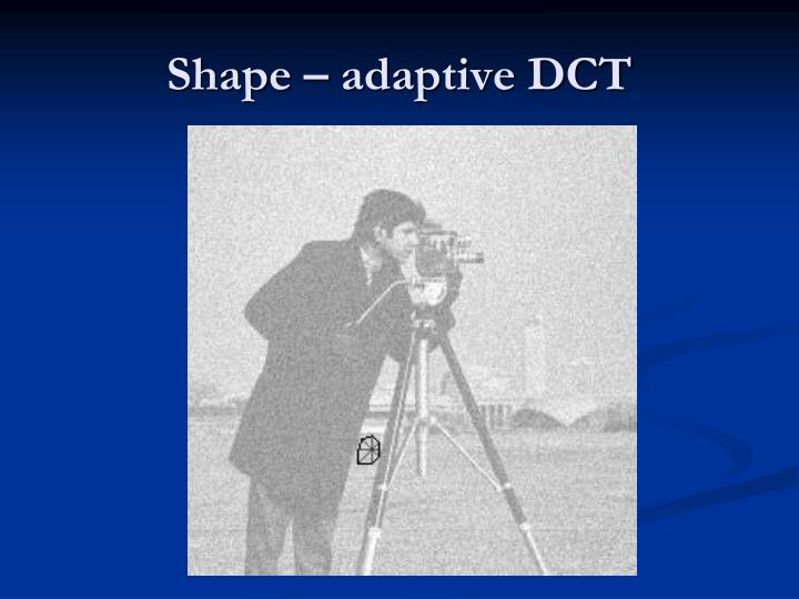 Shape – adaptive DCT